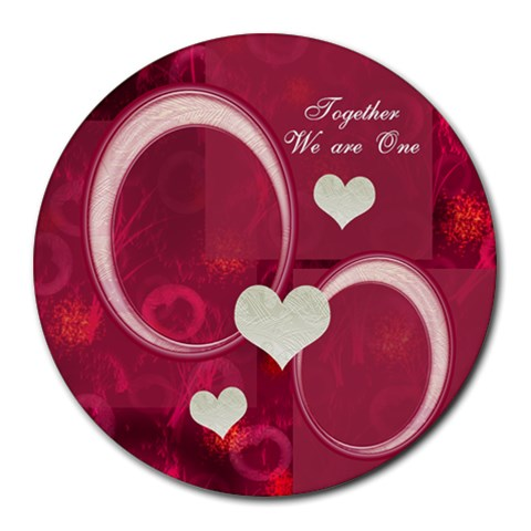 Together We Are One Pg22 Round Mousepad By Ellan   Round Mousepad   7cn1hcxrz3sc   Www Artscow Com Front