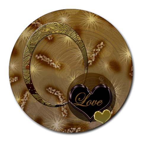 Love Heart 21 Round Mousepad By Ellan   Round Mousepad   Xm2r8ezn7rfd   Www Artscow Com Front