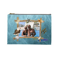 By The Sea Large Cosmetic Bag By Lil    Cosmetic Bag (large)   Zn7zo9aam29o   Www Artscow Com Front