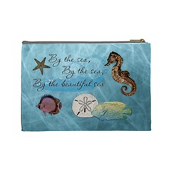 By The Sea Large Cosmetic Bag By Lil    Cosmetic Bag (large)   Zn7zo9aam29o   Www Artscow Com Back