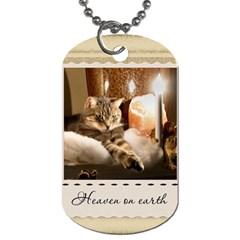 Heaven On Earth Dog Tag By Lil    Dog Tag (two Sides)   4agrr5xq1znu   Www Artscow Com Front
