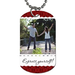 Express Yourself! Dog Tag By Lil    Dog Tag (two Sides)   3f1a6x6jh9h9   Www Artscow Com Front