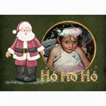 ho ho ho 7x5 lil - 5  x 7  Photo Cards