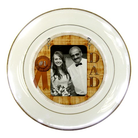 #1 Dad Plate By Lil    Porcelain Plate   I9y9w7i37nag   Www Artscow Com Front