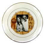 #1 Dad Plate - Porcelain Plate