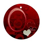 Love Heart red ornament round - Ornament (Round)