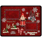 Vintage Christmas santa old fashioned fleece blanket - Fleece Blanket (Large)