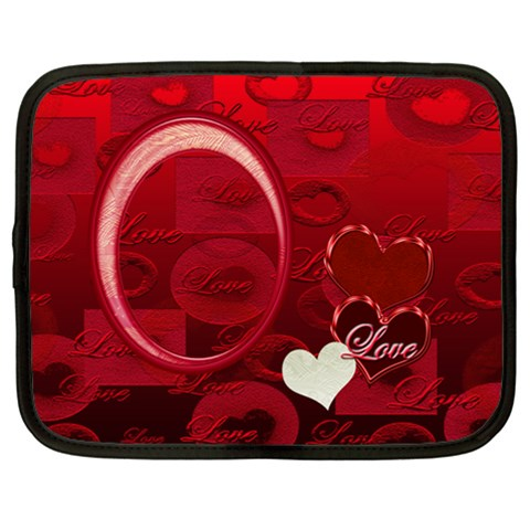 I Heart You Extra Large Netbook Case By Ellan   Netbook Case (xxl)   0q1j3assjlmi   Www Artscow Com Front