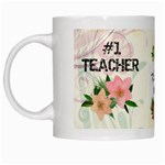 #1 Teacher Mug - White Mug