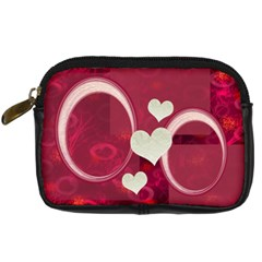 I Heart You Pink Leather Camera Case By Ellan   Digital Camera Leather Case   0zk2u6fkob2y   Www Artscow Com Front