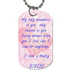 Matty s Christmas Present By Lindsey   Dog Tag (two Sides)   Tszjhzonidq1   Www Artscow Com Back
