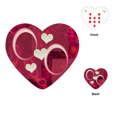 Pink Love Heart Playing Cards By Ellan   Playing Cards (heart)   Mbz0n77i5z9g   Www Artscow Com Front