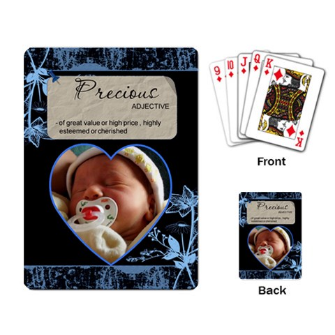 Precious Playing Cards By Lil    Playing Cards Single Design   Wqmc9z8gqqlb   Www Artscow Com Back