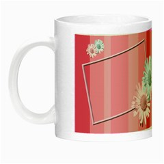 Pink Flowers Luminous Mug By Add In Goodness And Kindness   Night Luminous Mug   Xssoz3tm9sv4   Www Artscow Com Left