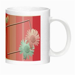 Pink Flowers Luminous Mug By Add In Goodness And Kindness   Night Luminous Mug   Xssoz3tm9sv4   Www Artscow Com Right