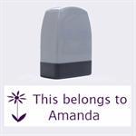 This belongs to - Name Stamp