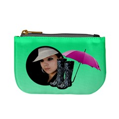Rain Green   Mini Coin Purse By Carmensita   Mini Coin Purse   Xmasp1mshh2u   Www Artscow Com Front