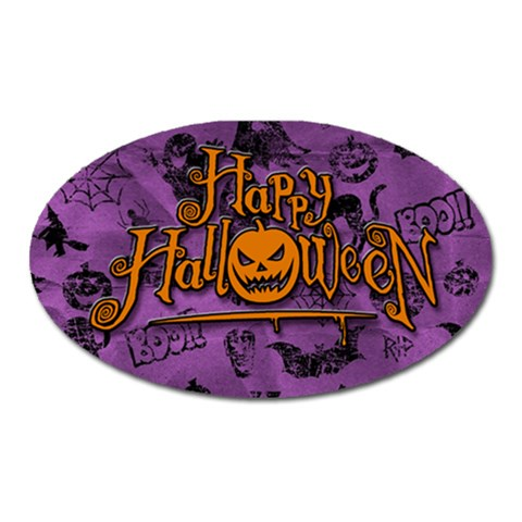 Halloween Magnet By Mel   Magnet (oval)   Glh3j7rxr2m9   Www Artscow Com Front