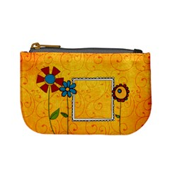 Yellow Flowers Coin Purse By Albums To Remember   Mini Coin Purse   M55xis3r0x1q   Www Artscow Com Front