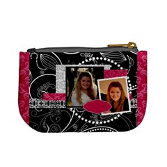 Pink, Black, & White Mini Coin Purse By Klh   Mini Coin Purse   Stwcfdr4mvqx   Www Artscow Com Back