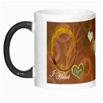 I Heart You gold Custom Morph Mug