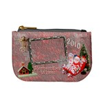 Stocking Stuffer Remember When Santa Sleigh Pink Merry Christmas mini coin purse