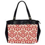 red damask - Oversize Office Handbag (Two Sides)