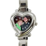 chris and paula - Heart Italian Charm Watch