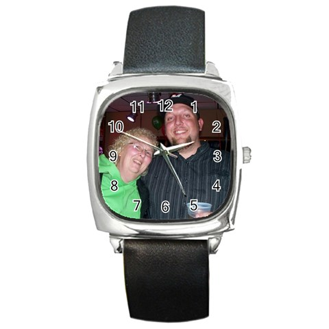 Chris And Paula By Melanie   Square Metal Watch   Oh2zu3b161p4   Www Artscow Com Front