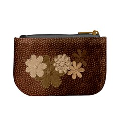Brown Floral Coin Purse By Lillyskite   Mini Coin Purse   Ibf4w71fomyf   Www Artscow Com Back