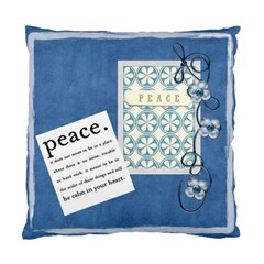 Peace Pillow By Diana P   Standard Cushion Case (two Sides)   Dzskwcumhbj2   Www Artscow Com Front