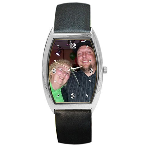 Paula And Chris By Melanie   Barrel Style Metal Watch   7b0azz4lnjse   Www Artscow Com Front