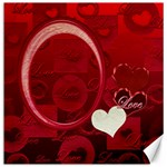I heart You Red Love 12x12 Canvas - Canvas 12  x 12