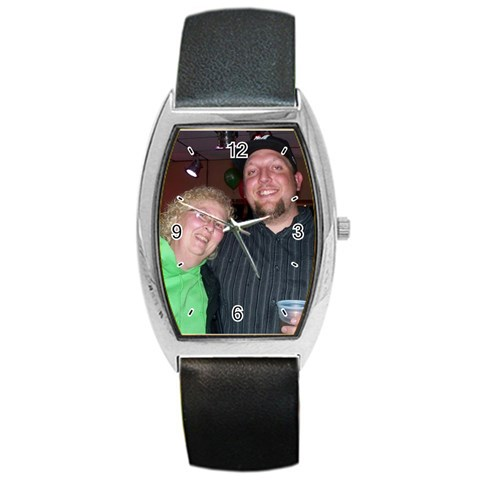 Chris And Paula By Melanie   Barrel Style Metal Watch   8vz3tgi9u92v   Www Artscow Com Front