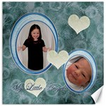 My Little Angels blue white 12x12 Canvas - Canvas 12  x 12
