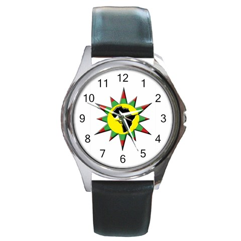 Connecting To African Womens/mens Watch By Chantel Reid Demeter   Round Metal Watch   Ls8c1sedfv8c   Www Artscow Com Front