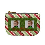 Merry Christmas Mini Coin Purse (Stripes)