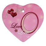 i heart you pink5 Christmas Ornament - Ornament (Heart)
