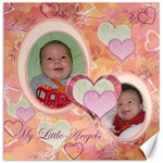 My Little Angels pink peach 12x12 Canvas - Canvas 12  x 12