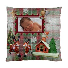 Santa Just Brought Us The Best Present 2010 Plaid 2 Sided Cushion Case By Ellan   Standard Cushion Case (two Sides)   Gsb737dawc9q   Www Artscow Com Back