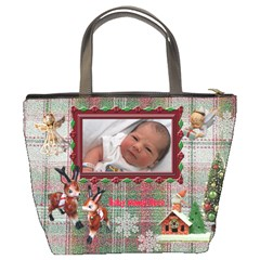 Santa Gave Us Best Present Of 2010 Christmas Bucket Bag By Ellan   Bucket Bag   Z82oiklooo0l   Www Artscow Com Back