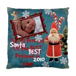 Santa Just Brought Us the BEST Present 2010 blue 2 sided cushion case - Standard Cushion Case (Two Sides)