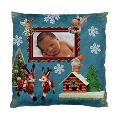 Santa Just Brought Us The Best Present 2010 Blue 2 Sided Cushion Case By Ellan   Standard Cushion Case (two Sides)   Rj6q9rhbq76e   Www Artscow Com Back