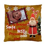 Santa Just Brought Us the BEST Present 2010 gold 2 sided cushion case - Standard Cushion Case (Two Sides)