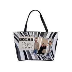 Party & Live Like You Mean It Shoulder Handbag By Lil    Classic Shoulder Handbag   Ob6kamlf81re   Www Artscow Com Front