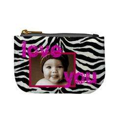 Love You Smile Zebra Mini Coin Purse By Catvinnat   Mini Coin Purse   68qlnp7vumy8   Www Artscow Com Front