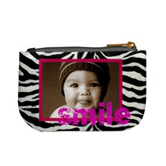 Love You Smile Zebra Mini Coin Purse By Catvinnat   Mini Coin Purse   68qlnp7vumy8   Www Artscow Com Back