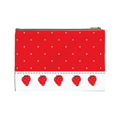 Red Pokka Dot Kawaii Cosmetic Bag By Joyce   Cosmetic Bag (large)   Z7vbgle169m4   Www Artscow Com Back