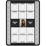 Graduation Black & White XL Fleece Blanket - Fleece Blanket (Large)
