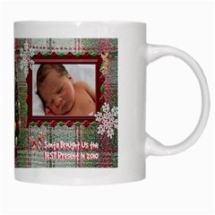 Santa Brought Us The Best Present In 2010 Coffee Mug By Ellan   White Mug   67jujy1lccu8   Www Artscow Com Right